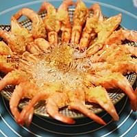 蒜茸粉丝开边虾的做法图解20