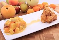 拔丝桃子配桃子沙滩 —《顶级厨师》参赛作品的做法