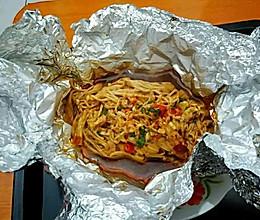 锡纸金针菇的做法
