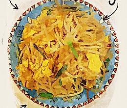 豆芽炒蛋的做法