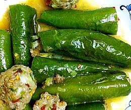 辣椒酿肉的做法