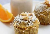 核桃营养早餐:雪顶核桃蛋糕+核桃豆乳#补脑美食汇#的做法