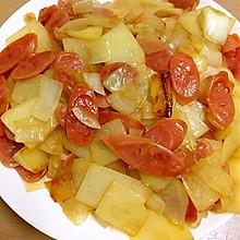 腊肠洋葱土豆