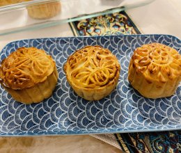 (无蔗糖)椰蓉奶黄月饼的做法