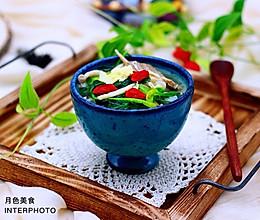 #多力金牌大厨带回家-北京站#菠菜白玉菇虾皮汤的做法