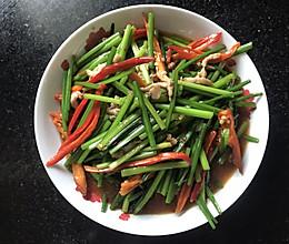 韭菜花炒肉丝的做法