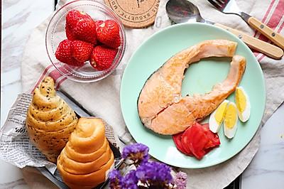 #520,美食撩动TA的心!#芝香三文鱼排