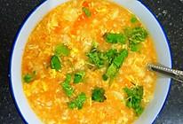 番茄鸡蛋疙瘩汤,孩子的养胃饭的做法