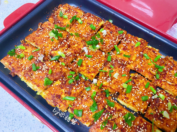 平底锅版铁板脆皮豆腐,赛过路边摊的做法