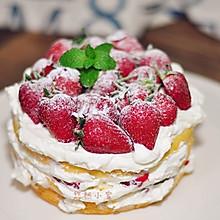 草莓戚风裸蛋糕#松下烘焙魔法学院#