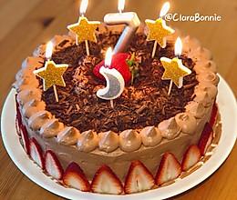 #豆果10周年生日快乐#巧克力应季水果蛋糕的做法