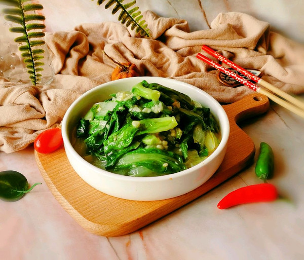 蒜蓉小白菜的做法