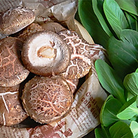 #一道菜表白豆果美食# 高颜值的香菇青菜的做法图解1