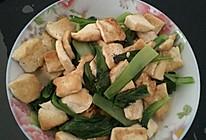 清炒豆腐小白菜的做法
