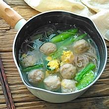 #做道懒人菜,轻松享假期#小白菜肉丸汤面