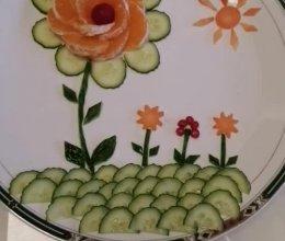 蔬果拼盘:美丽之花的做法