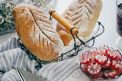 麻薯蔓越莓全麦软欧面包