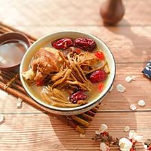 茶树菇红枣枸杞煲鸡汤