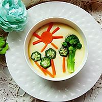 蔬菜蒸蛋羹#嘉宝笑容厨房#的做法图解7