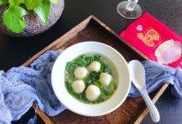 #鲜到鲜得,月满中秋,沉鱼落宴#小白菜鳕鱼丸子汤的做法