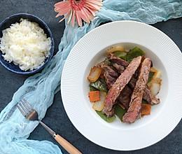 牛排的中式吃法香煎牛排配时蔬的做法