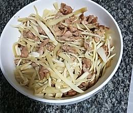 高笋子姜肉丝的做法