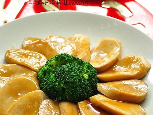年夜菜预预热--鲍汁菇片的做法