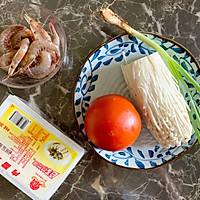 金针菇虾仁豆腐汤#花10分钟,做一道菜!#的做法图解1