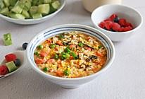 番茄杂蔬鸡蛋烫饭的做法