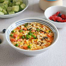 番茄杂蔬鸡蛋烫饭