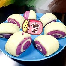 (用自发面粉做)紫薯刀切馒头
