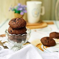 #带着美食去踏青#淡奶油巧克力软曲奇的做法图解8