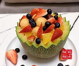 哈密瓜水果拼盘  如此的赏心悦目的做法