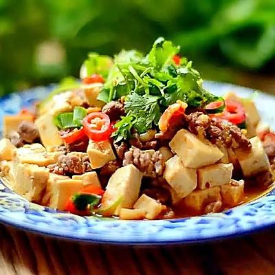 豆腐烧牛肉