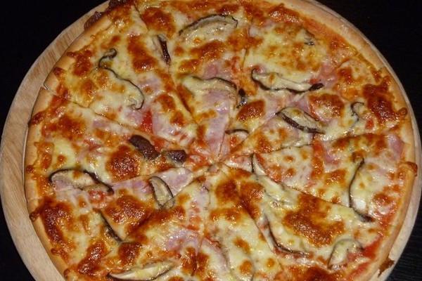 微波炉做蘑菇火腿比萨的做法