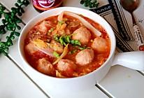番茄虾仁丸子汤的做法