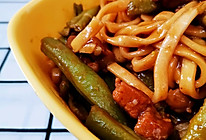初冬美味:东北版——豆角焖面!的做法