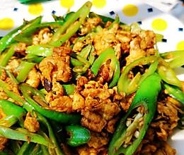 下饭菜 青椒炒鸡蛋的做法