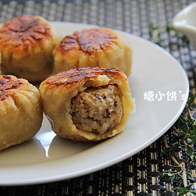 【香菇肉馅水煎包】