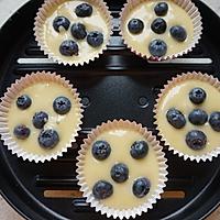 植物油蓝莓马芬#樱花味道#的做法图解9