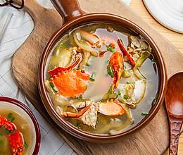 榨菜海蟹汤的做法