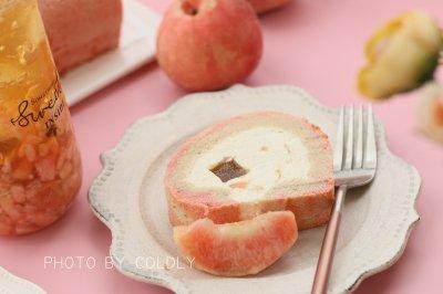 蜜桃乌龙蛋糕卷