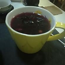 热蓝莓果肉饮品