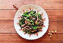 快手菜之一香菇油菜的做法