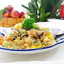 藜麦香菇香肠炒饭