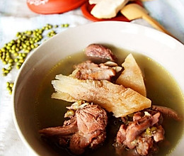 土茯苓绿豆老鸭汤的做法