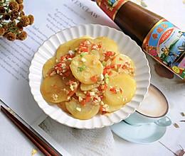 #李锦记旧庄蚝油鲜蚝鲜煮#鲜掉眉毛的蚝汁土豆片的做法