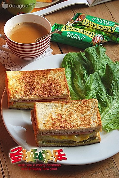 火腿起士HOT三明治的做法