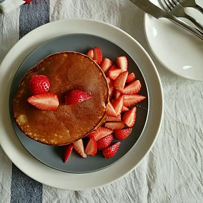 低温发酵法做草莓pancake