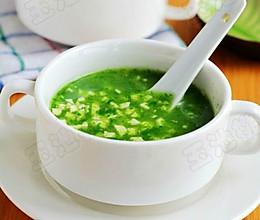 口感滑嫩的青菜豆腐羹的做法